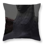 Sphinx Statue Three Quarter Profile Moonlight Usa Throw Pillow