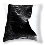 Sphinx Statue Torso Black And White Usa Throw Pillow