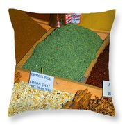 Spice Bar Throw Pillow