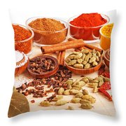 Spices And Herbs Throw Pillow