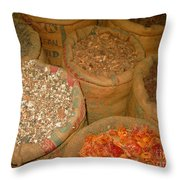Spices From The East Throw Pillow