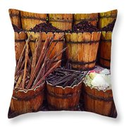 Spices In The Egyptian Market Throw Pillow