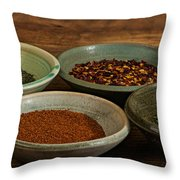 Spices Throw Pillow