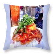 Spicy Sweet Chicken Throw Pillow