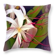 Spider Lilies Throw Pillow