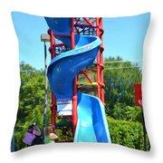 Spider Mountain Throw Pillow
