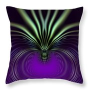 Spider Orchid Mandala Throw Pillow