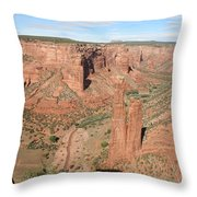 Spider Rock  Canyon De Chelly Throw Pillow