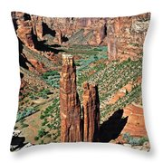 Spider Rock Canyon De Chelly Throw Pillow by Christine Till