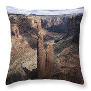 Spider Rock, Canyon De Chelly Throw Pillow