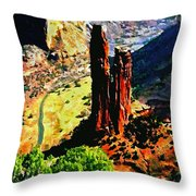 Spider Rock Canyon Dechelly  Throw Pillow