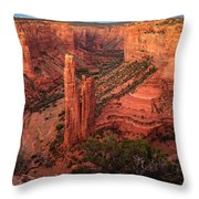 Spider Rock Sunset Throw Pillow