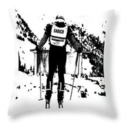 Spider Sabich Looking Over The Race Course Throw Pillow