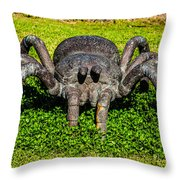Spider Sculpture Throw Pillow