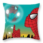Spiderman 4 Throw Pillow