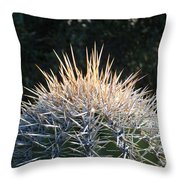 Spike Head In Silver Throw Pillow