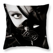 Spiked Mask Throw Pillow