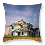 Deep Autumn In Saskatchewan Throw Pillow