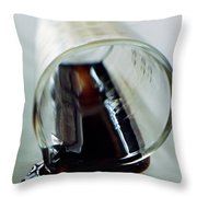 Spilled Balsamic Vinegar Throw Pillow