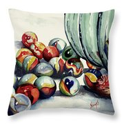 Spilled Marbles Throw Pillow