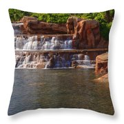 Spilling Over Waterfall Throw Pillow