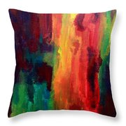 Spilling Rainbows Throw Pillow