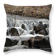 Spillway Waterfall Throw Pillow