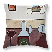 Essence Of Home - Spilt Glass Of Wine Throw Pillow