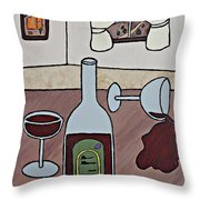 Essence Of Home - Spilt Wine Throw Pillow