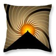 Spin Art Throw Pillow