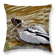 Spin Dry Duck Throw Pillow