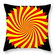 Spin Left On Black... Throw Pillow