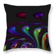 Spin Off Throw Pillow