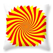 Spin Right On White Throw Pillow
