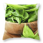 Spinach Throw Pillow by Elena Elisseeva