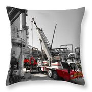 Spindle Extraction Bw Throw Pillow