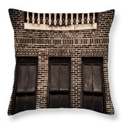 Spindles And Bricks Throw Pillow