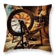 Spinnin' Spinster Throw Pillow
