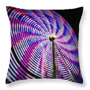 Spinning Disk Throw Pillow by Joan Carroll