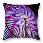 Spinning Disk Throw Pillow
