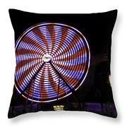 Spinning Ferris Wheel Throw Pillow