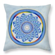 Spinning Flower Throw Pillow