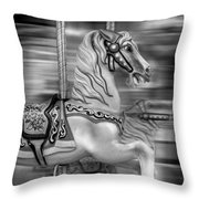 Spinning Horses Throw Pillow