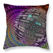 Spinning Out Of Control Throw Pillow