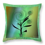 Spinning Plant Throw Pillow