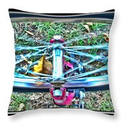 Spinning Round Throw Pillow