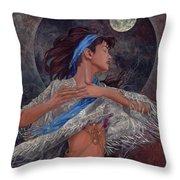 Spinning Spells Throw Pillow