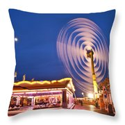 Spinning Vertical Ferris Wheel Throw Pillow