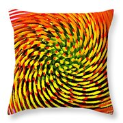 Spinning Watercolor  Throw Pillow