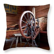 Spinning Wheel Throw Pillow